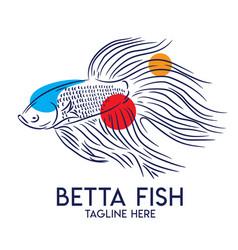 Betta fish logo vector