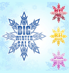 big winter sale poster background vector image