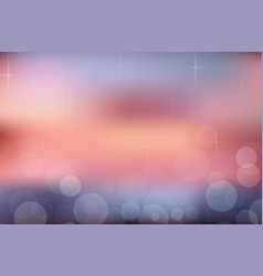 Blurred summer background sunset beach with vector