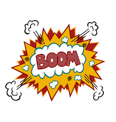 boom comic text vector image