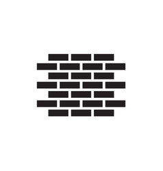 brick wall icon in flat style for apps ui vector image