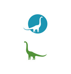 brontosaurus logo template icon vector image