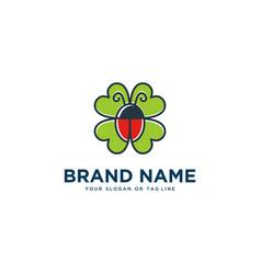 Bug logo design template vector