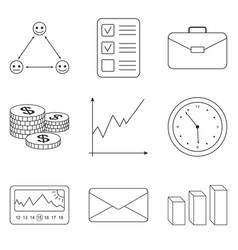 Business icons set for business finance vector