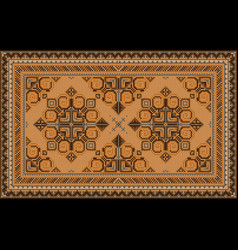 Carpet with browngray and yellow shades on black vector