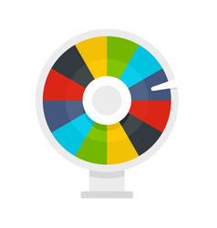 Color lucky wheel icon flat style vector