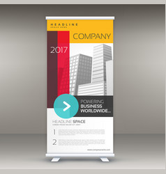 company colorful roll up banner template for vector image
