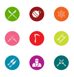 Covert operation icons set flat style vector