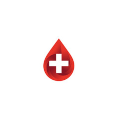 creative droplet medical logo vector image