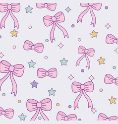 cute bow ties pattern design vector image
