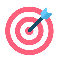 dartboard with black arrow in bullseye and aim vector image