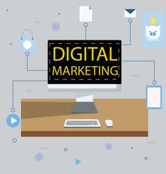Digital marketing display vector