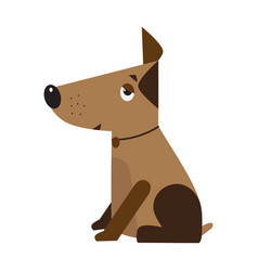 dog symbol of the new year 2018 funny domestic vector image