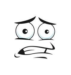 Emoji with horror face expression shocked emoticon vector