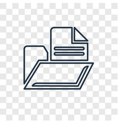 files and folders concept linear icon isolated on vector image