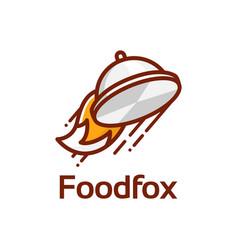 Food fox logo vector