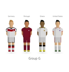 Football teams Group G - Germany Portugal Ghana vector