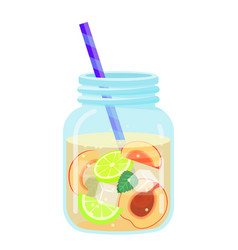 Fruit water icon summer beverage and cold drink vector
