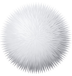 Fur pompon vector