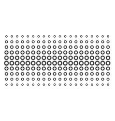 gear shape halftone effect vector image