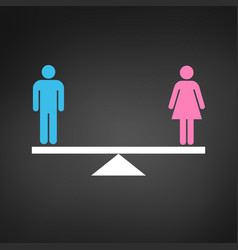 Gender equality concept icon pink and blue gender vector