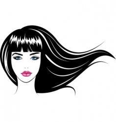 girl's face vector image