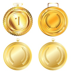 Golden medal vector