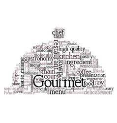 Gourmet Theme Word Cloud vector image