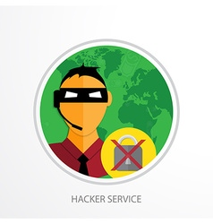 hacker service web icon vector image