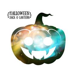 Halloween pumpkin jack o lantern silhouette vector