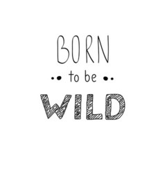 Hand drawn lettering Born to be Wild phrase vector image