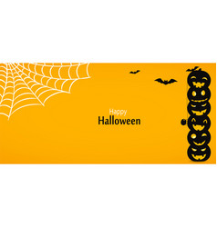 happy halloween yellow background or banner vector image