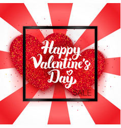 happy valentines day sale ard vector image