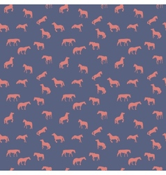 Horse runs hops gallops isolated seamless pattern vector