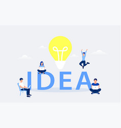 idea design concept vector image