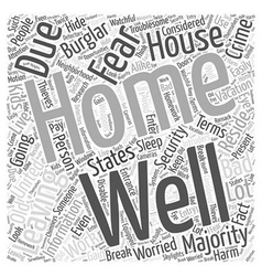 Information About Home Security Word Cloud Concept vector