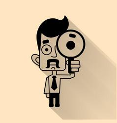 job search concept flat design vector image