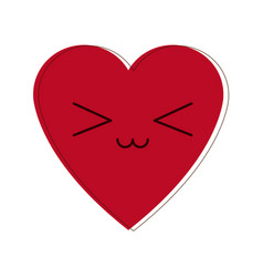 kawaii heart love romance passion vector image