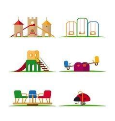 Kids playground elements vector image