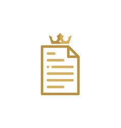 king document logo icon design vector image