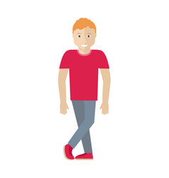 Man character in flat style vector