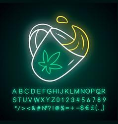marijuana tea neon light icon weed product vector image