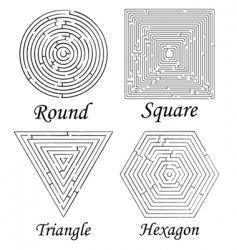 mazes shapes vector image