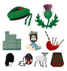 National symbols scotland scottish attractions vector