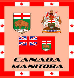 Official government elements of canada - manitoba vector