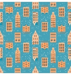 Old City seamless pattern vector
