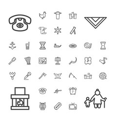 Old icons vector