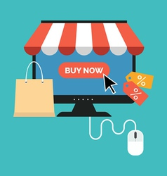 Online shopping concept Flat design stylish vector image
