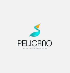 Pelican logo company vector