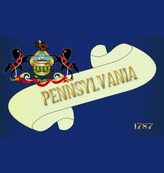 Pennsylvania scroll vector